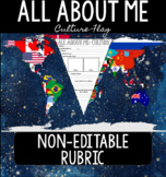 All About Me: Culture Flag NON-EDITABLE