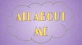 All About Me - Customizable Slides for Distance Learning B