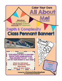 All About Me - D&C Icons Pennant Banner! {GATE Back to School!}