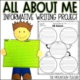 All About Me Descriptive Writing Project