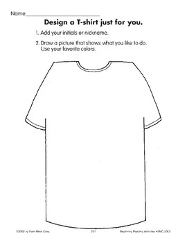 All About Me: Design a T-shirt