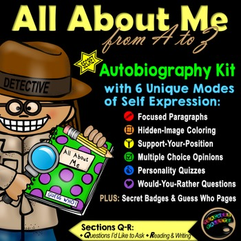 """Writing Journal Kit with Secret Detective """"Guess Who"""" Reading Game (Q-R)"""