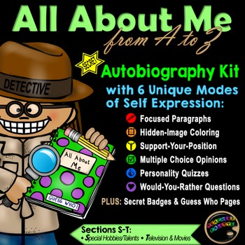 """Writing Journal Kit with Secret Detective """"Guess Who"""" Reading Game (S-T)"""