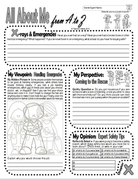 Journal Prompts: Secret Identity All About Me Book w/Hidden Image Coloring (W-X)