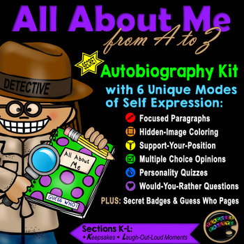 """All About Me: Detective Themed Autobiography """"Guess-Who"""" W"""