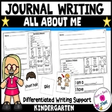 Kindergarten Journal Writing Differentiated Prompts- All About Me