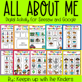 All About Me Digital Activity | Google | Seesaw | Distance