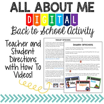 All About Me Digital Back to School Activity {Student PowerPoint Show}