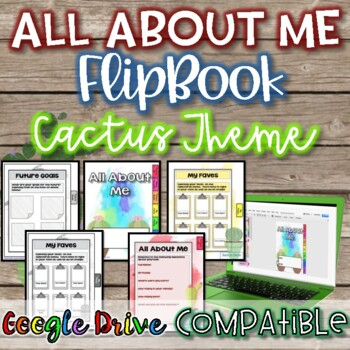 All About Me FlipBook-Cactus Theme {Digital and Paper}