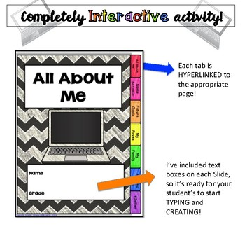 All About Me Digital FlipBook-Google Drive