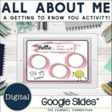 All About Me Digital   Google Slide   Back to School Activities