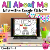 All About Me Digital Google Slides™️ for Distance Learning