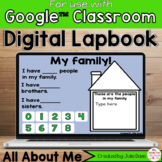 All About Me Digital Interactive Notebook Google Classroom