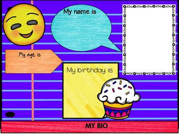 All About Me Digital Paperless Flipbook for Back to School