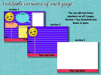 Beginning of the Year Activities All About Me Digital Paperless Flipbook