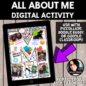 All About Me Digital Project *BACK TO SCHOOL ACTIVITY* Digital Resource