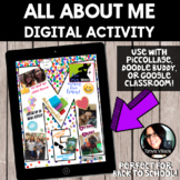 All About Me Digital Project *BACK TO SCHOOL ACTIVITY* Dig