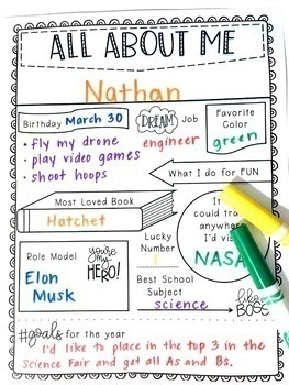 All About Me (Digital or Paper Resource)