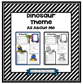 All About Me Dinosaur Theme
