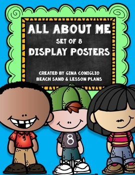 All About Me Display Posters