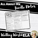 Back to School--All About Me Doodle Notes