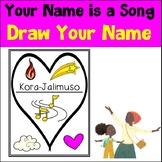 All About Me Draw My Name