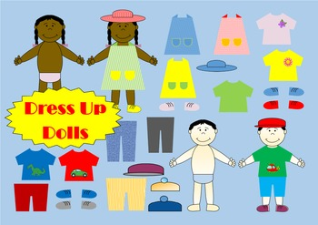 All About Me Dress Up Dolls Multicultural Activity