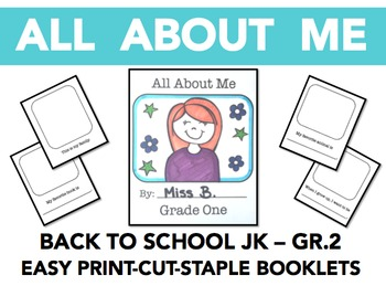 All About Me - EASY BOOKLETS