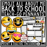 Emoji Theme All About Me Pennant - Emoji Back to School Wr