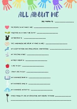 All About Me - Early Childhood, Preschool, Kindergarten, First/Second Grade