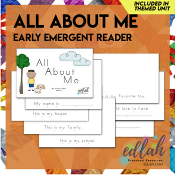 All About Me Early Emergent Reader