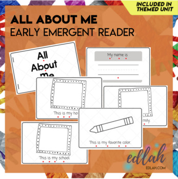 All About Me Early Emergent Reader - Black & White Version