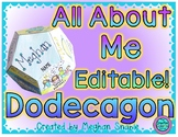 All About Me Editable Dodecagon Poster