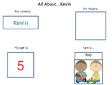 All About Me Editable Preschool File Folders- Great for Sp