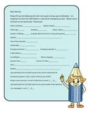 All About Me & Emergency Info form