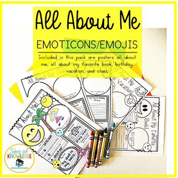 All About Me Emoticons Themed Posters