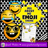 All About Me Emoji Theme (Back to School Emoji)