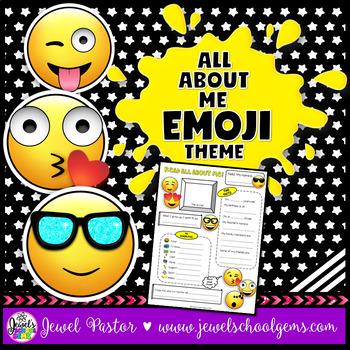 All About Me Emoji Theme (Back to School Emoji)