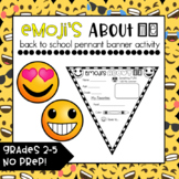 All About Me {Emoji's About ME} Emoji Banner Pennant