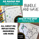 All About Me & End of Year Memory Book - Bundle | Printabl