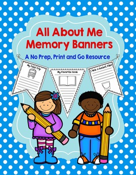 All About Me Memory Banners: Print and Go