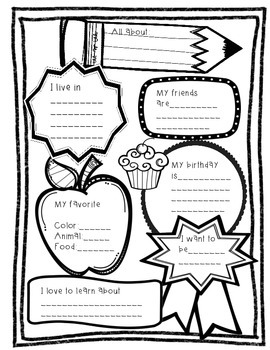 All About Me- English