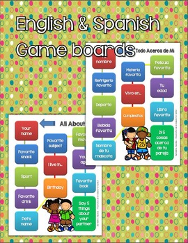 All About Me (English and Spanish booklets - Boy/Girl Versions)