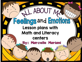 FEELINGS and EMOTIONS: Literacy & Math activities and lesson plans- ALL ABOUT ME