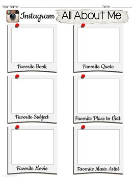 All about me first day instagram template by made to for About me template for students