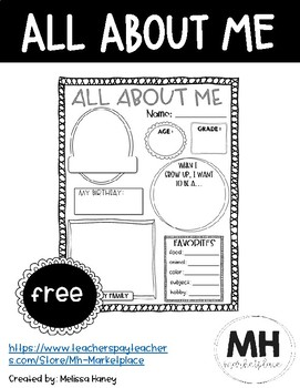 All About Me - FREE