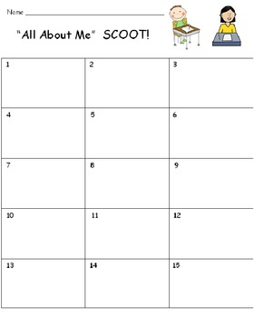 All About Me FREE SCOOT Game PREVIEW