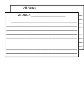 All About Me- FREE Writing Prompt Paper