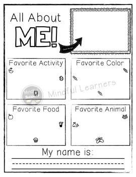 All About Me- FREEBIE