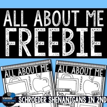 All About Me FREEBIE for Back to School